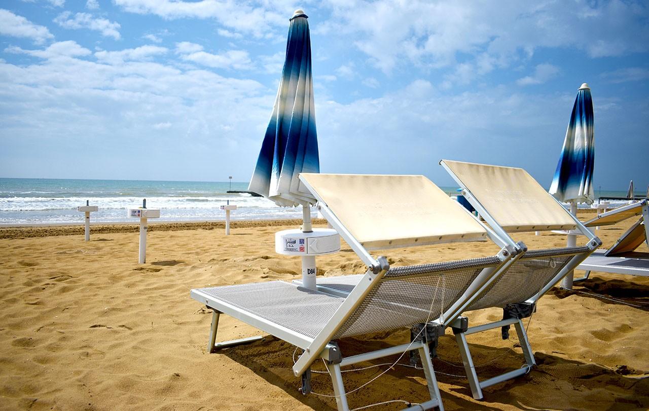 Spiaggia e Parcheggio il giorno di Partenza
